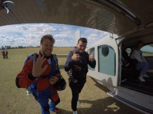 embarquement saut en parachute